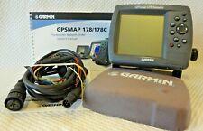 Garmin Gpsmap 178 Sounder Chart Plotter Fish Finder Gps Bundle w Pwr Mount Cover