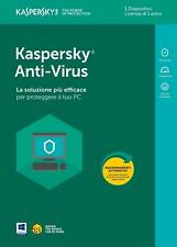 KASPERSKY ANTIVIRUS 2018 , licenza 1 PC > 1 ANNO - KL1171T5AFS-8SLIM - ITALIANO