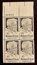 US Stamps, Scott #1526 10c 1974 Plate Block Robert Frost XF/S M/NH