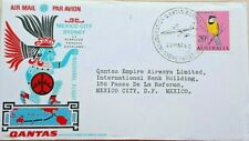 Australia 1966 Illustrated Qantas First Flight Cover To Mexico