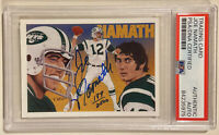 1991 Upper Deck JOE NAMATH Signed Autograph Football Card PSA/DNA New York Jets
