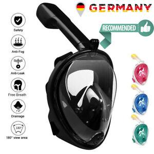 Schnorchelmaske Vollmaske Tauchermaske Tauchmaske Taucherbrille Erwachsene Maske