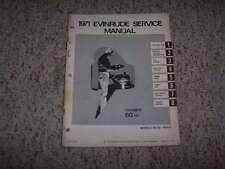 1971 Evinrude Triumph 60 HP Outboard Motor Shop Service Repair Manual Guide Book