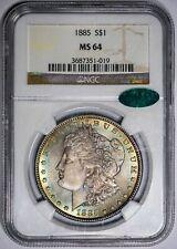 1885 Morgan Silver Dollar NGC MS 64 CAC Unique Vivid Colors