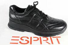 Esprit Herren Schnürschuhe Halbschuhe Sneakers schwarz Leder  NEU!