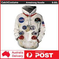 NASA Logo Space Rocket Astronaut Neil Armstrong Hoodie Sweatshirt Pullover Coat