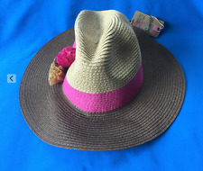 f99e628f8bc15 MANTARAY Ladies Hat One Size - Panama Style Hat Brown Pink Beige