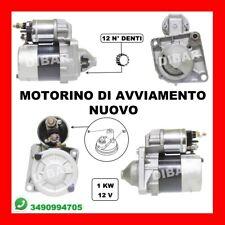 MOTORINO AVVIAMENTO NUOVO FIAT BRAVO II TJ 1.4 DA 07 KW110 CV150 198A1.000 198