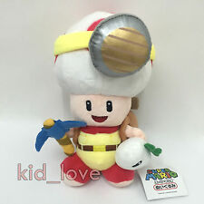 Super Mario Bros. RPG Plush Treasure Hunting Miner Toad Soft Toy Doll Teddy 8.5""
