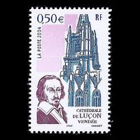 """France 2004 - Tourism """"Lucons Cathedral"""" Architecture - Sc 3017 MNH"""