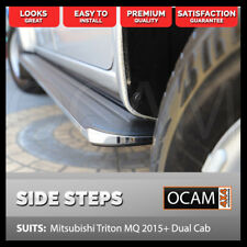 Aluminium Side Steps for Mitsubishi Triton MQ 2015+ Dual Cab Running Boards