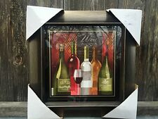 "New 15"" French  Bistro WALL Plaque Art Wine Glass Kitchen Home Decor"