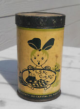 """ELESCA/LSK: Boite en fer blanc """" crème au chocolat au lait"""""""