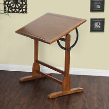 Crafts Art Supplies Drafting Studio Oak Vintage  Table Other Crafts Art Supplies