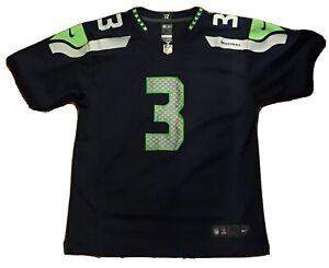 NFL Seattle Seahawks Football Jersey Russell Wilson Boys Youth XL Nike