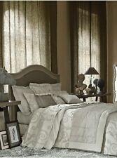 "NWT NEW Yves Delorme Cosimo Gray White Flora UK King Flat Sheet 106x122"" 270/310"