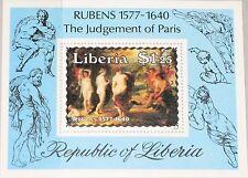 LIBERIA 1985 Block 110 S/S 1029 Paintings Gemälde by Rubens Art Kunst MNH