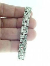 CARTIER 18K  WG  PANTHER  DIAMOND  BRACELET   - 3  ROWS