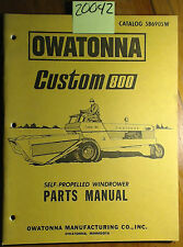 OMC Owatonna Custom 800 Self-Propelled Windrower Parts Catalog Manual 586905W