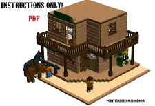 Lego Custom Modular Wild West Saloon and Hotel INSTRUCTIONS ONLY !