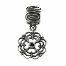 Pandora 925 Sterling Silver Scroll Flower Lock Bead Charm »U511