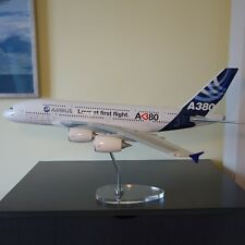 Huge 1/100 Airbus A380 Love first flight House Color Plane Model - Acrylic Stand