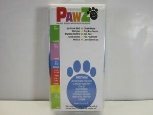 Protex PawZ Dog Boots Water-Proof Paws Disposable Reusable - Medium Blue (New)