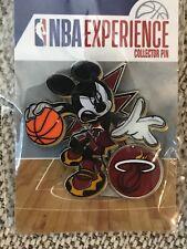 Disney Pin DS Mickey Mouse NBA Experience Basketball Uniform Miami Heat