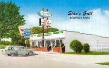 Stan'S Grill Blackfoot, Idaho Roadside Truck Stop Diner c1950s Vintage Postcard