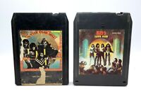 KISS Hotter Than Hell  and Love Gun 8 Track Tapes  1974 Untested