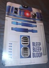 STAR WARS R2D2 Two Sided Wall Sign 12x8 BLEEP BLEEP BLOOP New Movie Robot WoW!