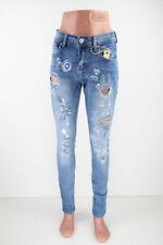 S-Effekt/Fetzen Normalgröße Damen-Jeans