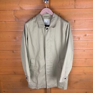Mens Selected Homme Tan Tribe Trench Coat Size Medium