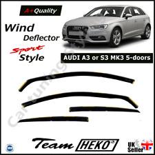 AUDI A3 MK3 5-Door 2013-2020 Hatchback Sportback 4pc Wind Deflectors HEKO Tinted