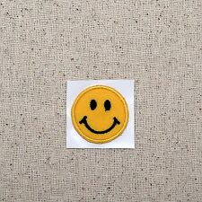 SMALL Smiley Face Emoji - Iron on Applique/Embroidered Patch