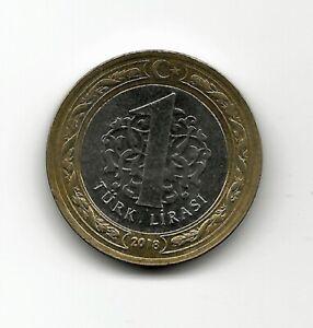 World Coins - Turkey 1 Lira 2018 BiMetallic Coin KM# 1244 ; Lot-T2