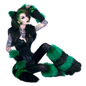 Pawstar Stripey Fox Yip Combo - Full Tail - Furry costume cosplay cat wolf 4211