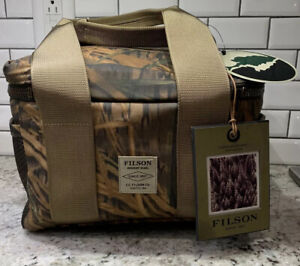 New! $155 Filson x Mossy Oak Camo Soft-Sided Lunch Cooler. Beer Box. Made In USA