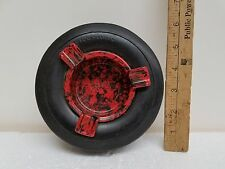FIRESTONE TIRE ASHTRAY-RED/BLACK CENTER