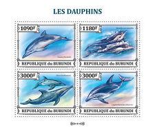 Dolphins Marine Life sea mammals Burundi 2013 m/s Sc.1397 MNH #BUR13307a