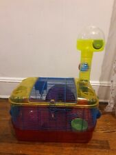 Hamster Cage & Habitats Accessories Tower, Exercise Wheel Mice Gerbil Rat Used