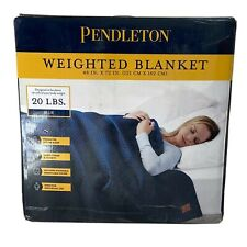 """Pendleton Weighted Blanket, 48"""" x 72"""", 20 lbs, Blue Anxiety Quilted Blanket"""