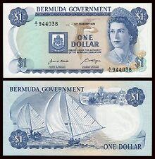 Bermudas - Bermuda  1 Dollar  6-2-1970  Pick 23   SC = UNC