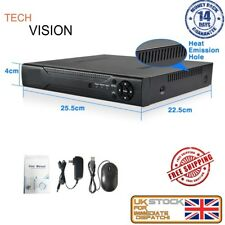 TECHVISION 1080p AHD DVR  HDMI Network P2P Free Mobile App 5 IN 1
