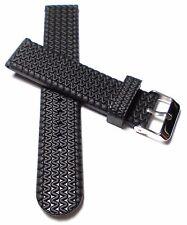 Silicona submarinista relojes pulsera silicon Rubber reloj pulsera watch Strap negro 20mm