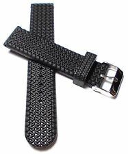 Silikon Ersatz Uhrenarmband Silicon Rubber Taucher Uhr Armband Watch Strap 22 mm