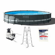 Intex 20ft x 48in Ultra Xtr Round Above Ground Pool & Chemical Maintenance Kit