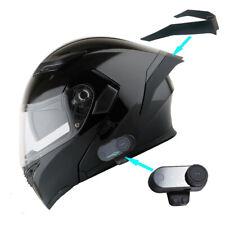 1Storm Motorcycle Full Face Dual Visor Helmet HB89 + Spoiler + Bluetooth Headset