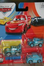 "DISNEY PIXAR CARS 3 ""MINI THE KING, DINOCO LIGHTNING McQUEEN,DINOCO CHICK HICKS"""