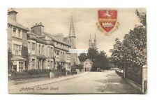 Ashford, Kent - Church Road - 1908 used postcard, published by Goulden & Wind